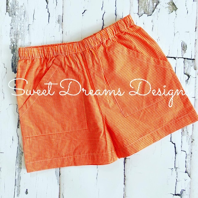 The Best Shorts Ever - Orange Gingham
