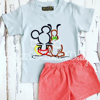 Mickey & Friends Tee on Ice Blue