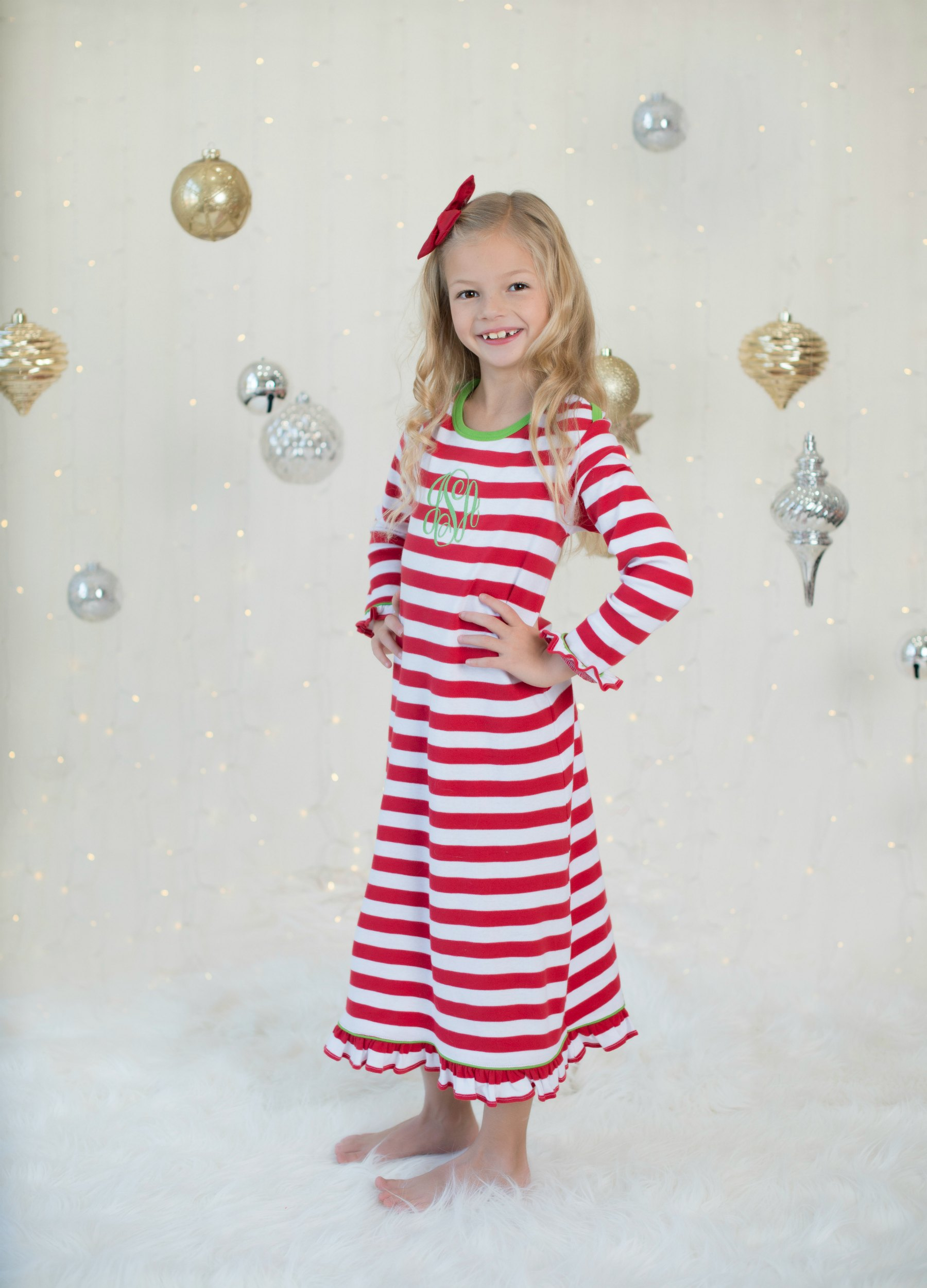 Red & White Striped Christmas Gowns