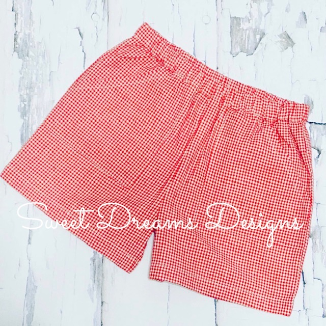 The Best Shorts Ever - Red Gingham