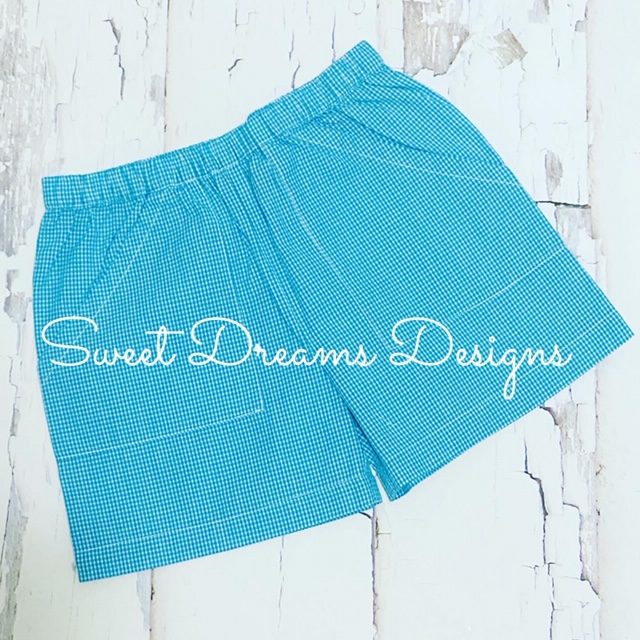 The Best Shorts Ever - Turquoise Gingham